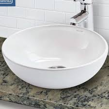 above counter bathroom sinks canada decolav classically redefined above counter lavatory circular vessel bathroom sink with overflow to good plan