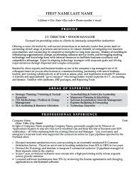 It Manager Resume Template It Director Or Senior Manager Resume ...