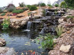 stunning ideas for garden pond waterfall designs 22