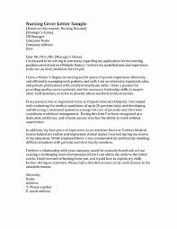 Registered Nurse Cover Letter Template Nurse Cover Letters Examples Beautiful Nursing Cover Letter
