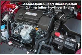 2016 honda accord press kit powertrain honda com the direct injected 2 4 liter inline 4 cylinder that powers the accord sport is essentially identical to the engine in the lx ex ex l sedan and lx s