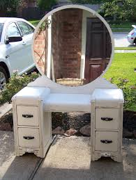 i just finished this gorgeous art deco vanity in pure white annie sloan chalk paint