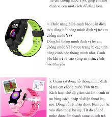 Đồng hồ thông minh định vị trẻ em Y88 Định vị Wifi+LPS, Chống Nước, Hỗ Trợ  Camera có bảo hành