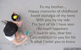 Quotes About Loving Your Brother New I Love You Poems For Brother WishesMessages