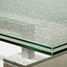 good 5 5 5mm ice ed laminated glass table top manufacturer china