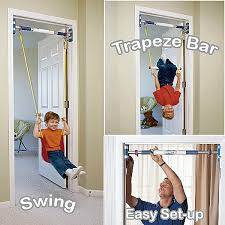 Rainy Day Indoor Swing Set, Doorway Swing, Indoor Trapeze Bar