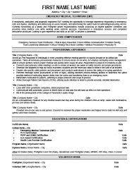 Emergency Medical Technician Resume