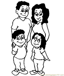 valuable coloring pages of a family page 11 free others for preschoolers eating