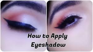 how to apply eyeshadow in hindi for beginners beginners makeup series