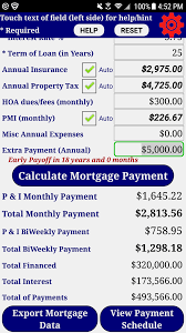 Mortgage Calculator With Extra Monthly And Yearly Payments Amazon Com Mortgage Home Loan Payment Calculator Pro Appstore For