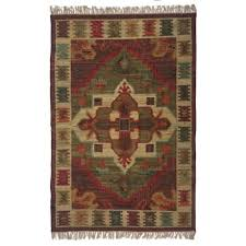 signature styles red area rug 5x8 cotton in red