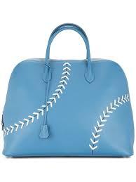 hermès pre owned sac bolide baseball tote blue