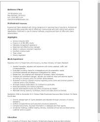 Claims Assistant Resume Template Best Design Tips Myperfectresume