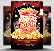 Free Movie Night Flyer Templates Movie Night Flyer Magdalene Project Org