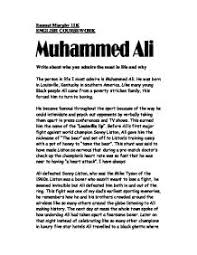 my hero muhammad ali a level history marked by teachers com muhammed ali write about who you admire most