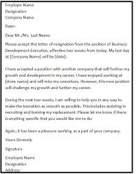 Employee Resignation Letter Fascinating Resignation Letter Format With Reason Describing The Reason Of
