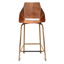 furniture elegant brown metal counter stools with backs for