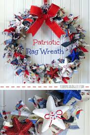 how to make a diy patriotic rag wreath all you need is a wreath form