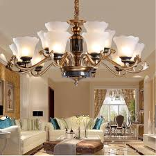 led chandeliers living room jade lamp modern restaurant bedroom study candle light stained glass chandelier pendant lamp long chandelier designer pendant