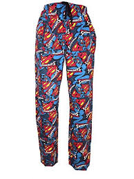 Character Pants Mens Character Novelty Pyjamas Superman Lounge Pants Bottoms Pants Trousers Size S Xl