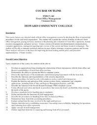 Sample Resume For Hotel Front Desk Supervisor Fresh Front Fice