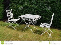 white iron garden furniture. White Metal Garden Furniture Table And Two Chairs Iron F