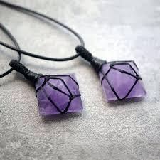 amethyst necklace natural purple quartz