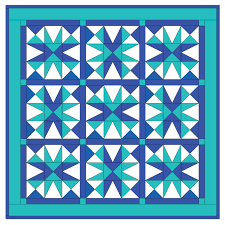GO! Cool Blue Star Quilt Pattern |AccuQuilt| & Cool Blue Star Quilt Pattern- Free (PQ10213i) Adamdwight.com