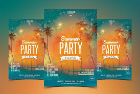 Beach Party Psd Flyer Template Psfiles