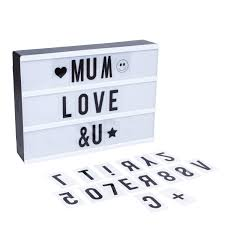lightess com supplies lightess cinema light box with free combination letters and led light message