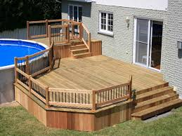 Above Ground Pool Decks Pictures Can Make Your Backyard Stand Out