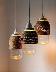rope mason jar lights