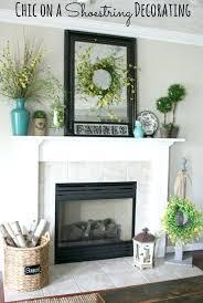 rustic fireplace decor mantel ideas decorations