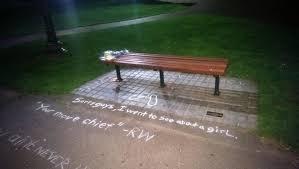 park bench imgur the boston garden bench