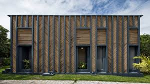 Design House Exterior Mesmerizing Vilela Florez Designs Bamboo House With Chevronpattern Exterior In