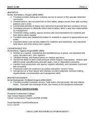 Example Of Waitress Resume Letsdeliverco Amazing Waiter Resume