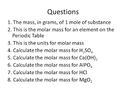 End Catalyst 1. How many particles are in one mole? - ppt download