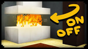 How To Build A Brick Fireplace With A Chimney In Minecraft Fireplace In Minecraft