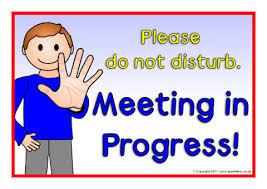 Do Not Disturb Meeting In Progress Sign Meeting In Progress Signs Sb5450 Sparklebox