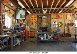 blacksmith workshop. interior of welding and blacksmithing workshop - stock image blacksmith