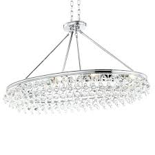 calypso 8 light crystal teardrop chrome oval chandelier extraordinary black new oval crystal chandelier