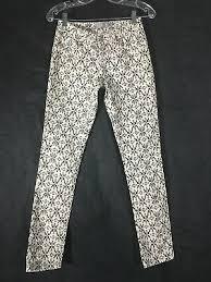 Rue 21 Black Pinstriped Size 5 6 Womens Pants 9 95