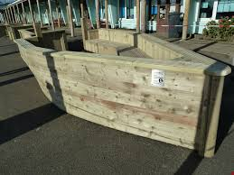 wooden boat shaped planter luxury boat planter boxes