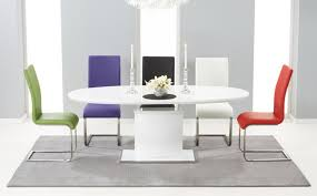 dining trend room table sets round glass in regarding white gloss ideas 17