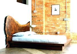 rustic platform bed. Rustic Platform Bed Frame Diy Queen Reclaimed California