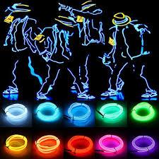 Dây EL 3V Đèn LED Dẻo Dải Ống Chống Nước Xe Đảng Quần Áo Cưới Dây EL + Bộ  Chuyển Đổi Linh Hoạt đèn Neon / đèn LED chiếu sáng