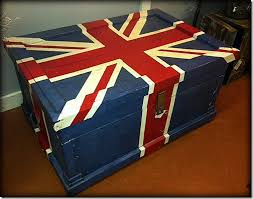 Union Jack chest by Refunk My Junk. Lov this. The boys loved London so