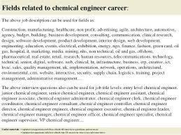 Chemical Engineer Job Description Chemical Engineer Jobs Description