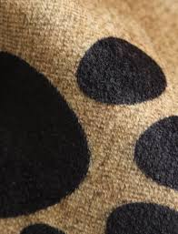 dog paw print skidproof bathroom rug