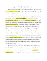 Class Observation Essay Barca Fontanacountryinn Com